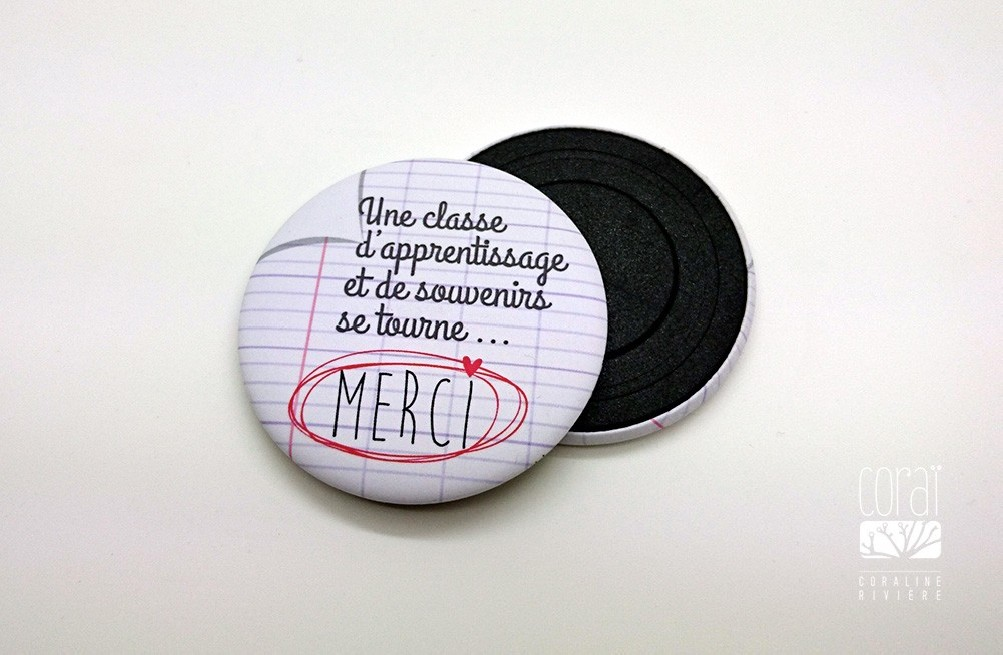 "Magnets ""Merci professeur"""