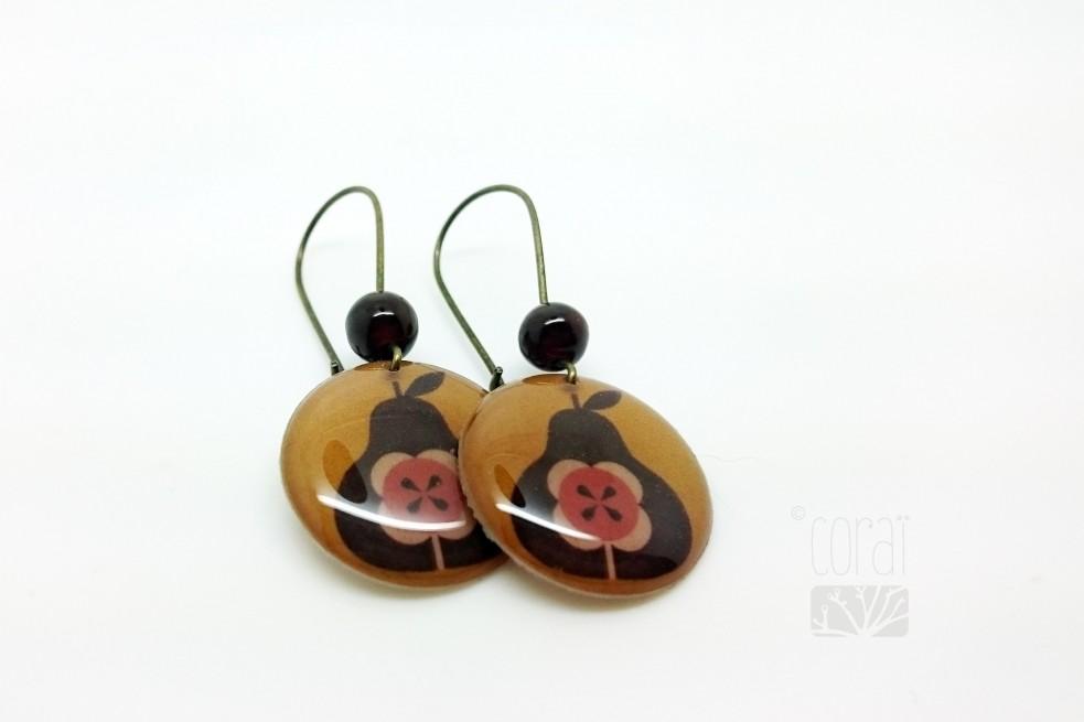 Boucles d'oreilles les poires d'automne