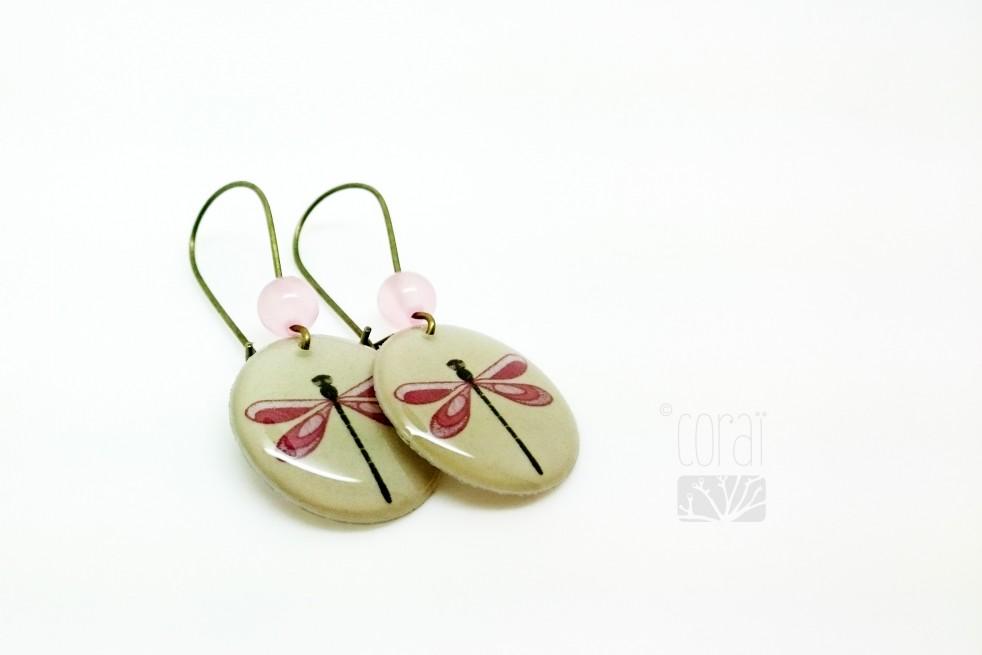Boucles d'oreilles les libellules