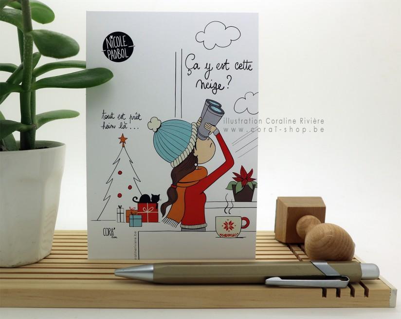 """Carte voeux """"Profiter de la vie"""""""