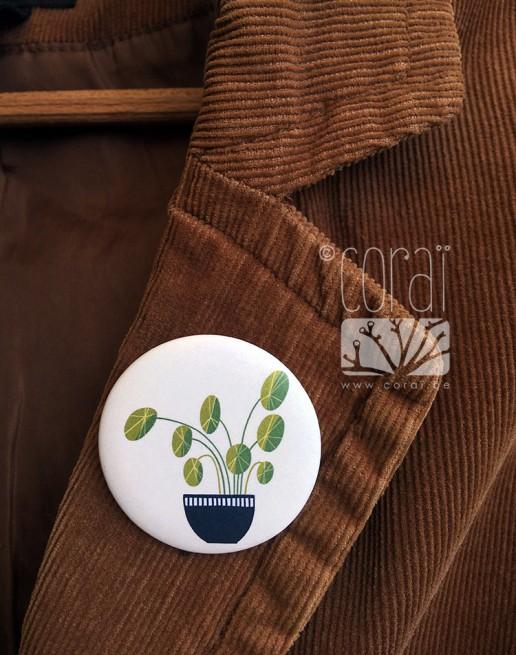 Badge motif entrelacement de mains