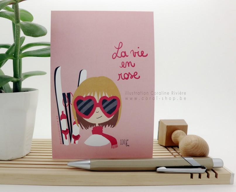 """Carte de voeux """"Profiter de la vie"""""""