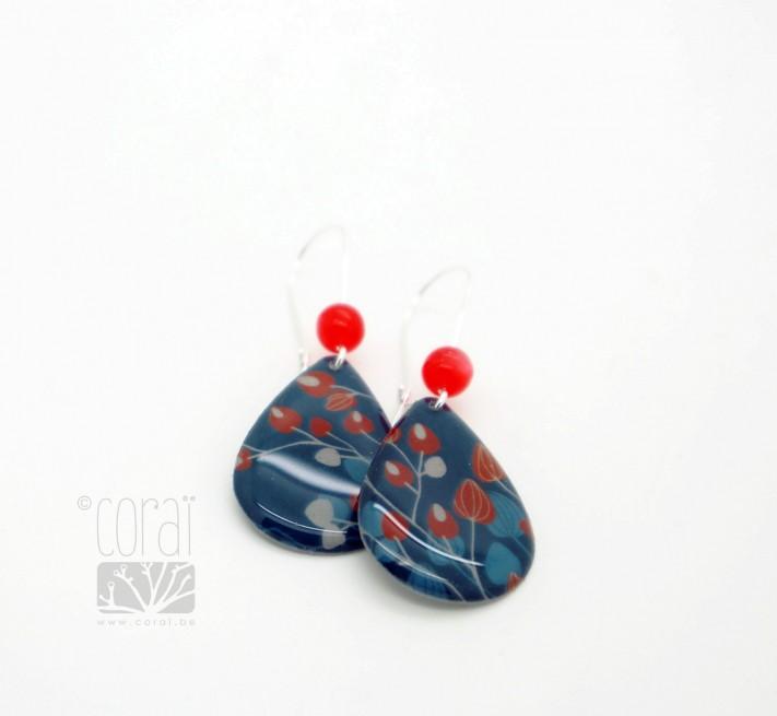 Boucles d'oreilles mélange d'arbres