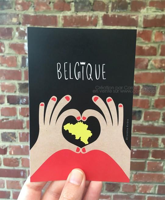 Carte postale belges pensées