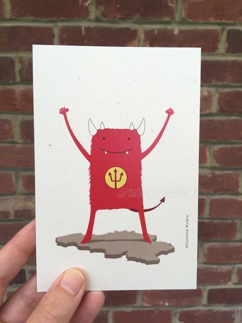 Carte postale Belgique petite mais costaude