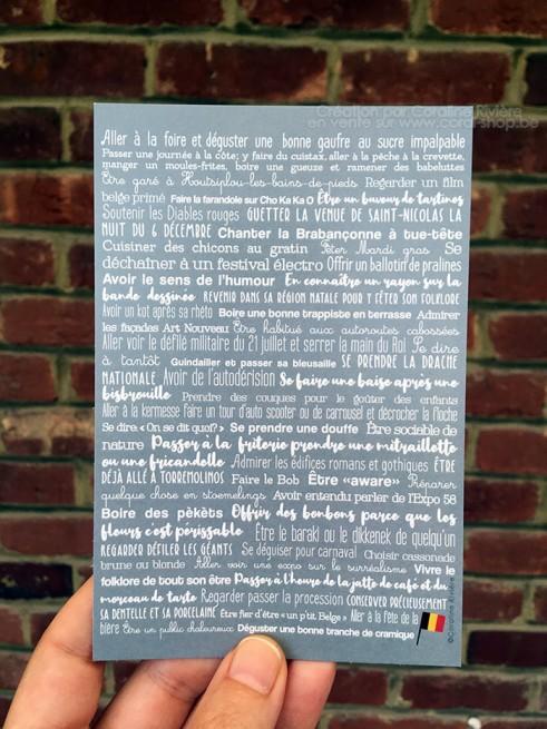 Carte postale Les festivals en Belgique