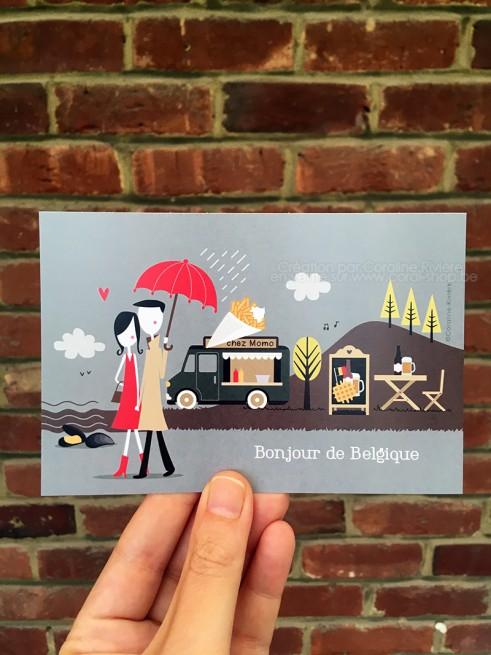 Carte postale expressions et coutumes belges