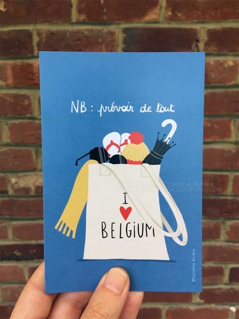 Carte postale Bonjour de Belgique