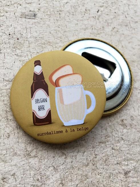 Magnet DECAPSULEUR bières belges